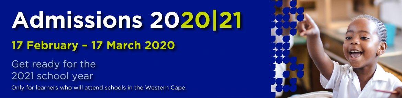 Admissions 2020/21