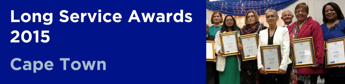 Long Service Awards 2015 - Cape Town