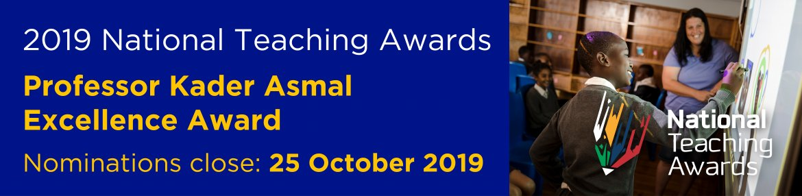 2019 National Teaching Awards - Professor Kader Asmal Excellence Award