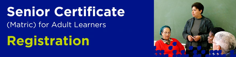 Senior Certificate Registration