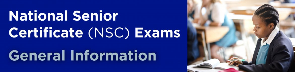 National Senior Certificate (NSC) Exams November 2020