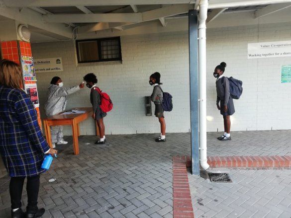 Learners receive warm welcome back to school2