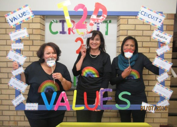ECKED's T2P Team have Values conversation in style