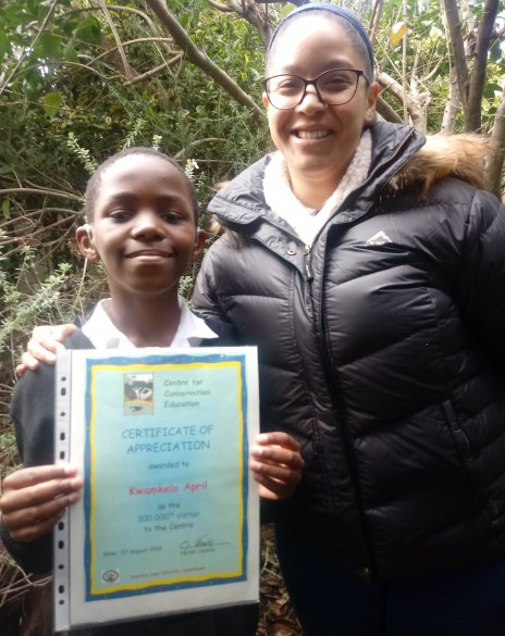 300 000th learner at the Centre for Conservation Education