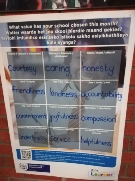 Voorspoed Primary School values3