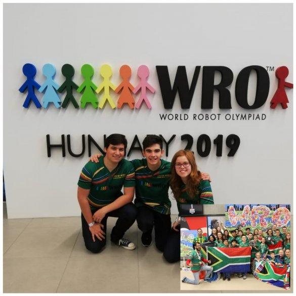 Protea Heights Academy fly SA flag at World Robotics Olympiad3