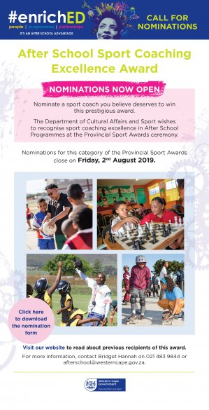 Call for nominations for coaching excellence