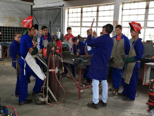 Agricultural Technical learners attend excellent welding course