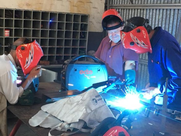 Agricultural Technical learners attend excellent welding course2