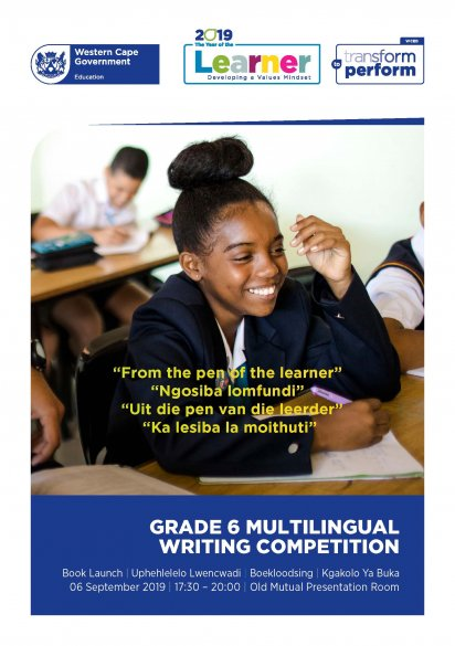 From the pen of the learner – multilingual writing competition for Grade 6