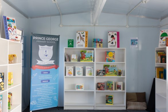 Prince George Primary marks World Book Day with new library2