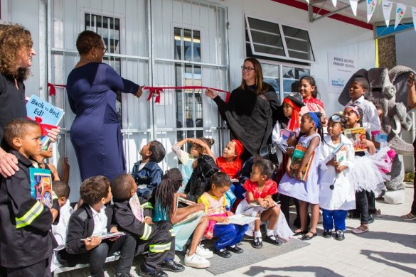 Prince George Primary marks World Book Day with new library