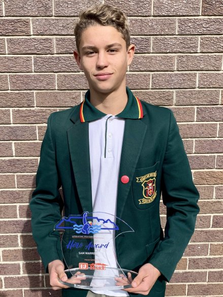 Camps Bay learner receives hero award
