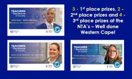 WCED wins big at the National Teaching Awards!