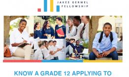 Jakes Gerwel Fellowship online series