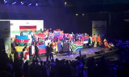 Protea Heights Academy fly SA flag at World Robotics Olympiad