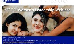 Save the date: Women's Leadership Webinar
