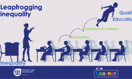 """HOD brings the message of """"Leapfrogging inequality"""" across to all education districts."""