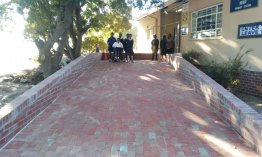 110m wheelchair pathway links learners' home to her school