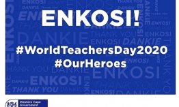 Tribute to Western Cape teachers on World Teachers' Day