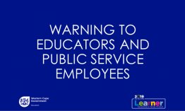 WCED warns employees about misleading pension and salary redress drive